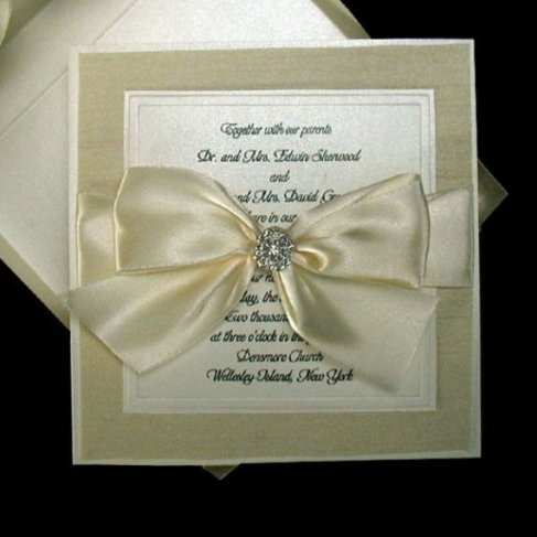 Beautiful, Boxed, Embossed Couture Wedding Invitations