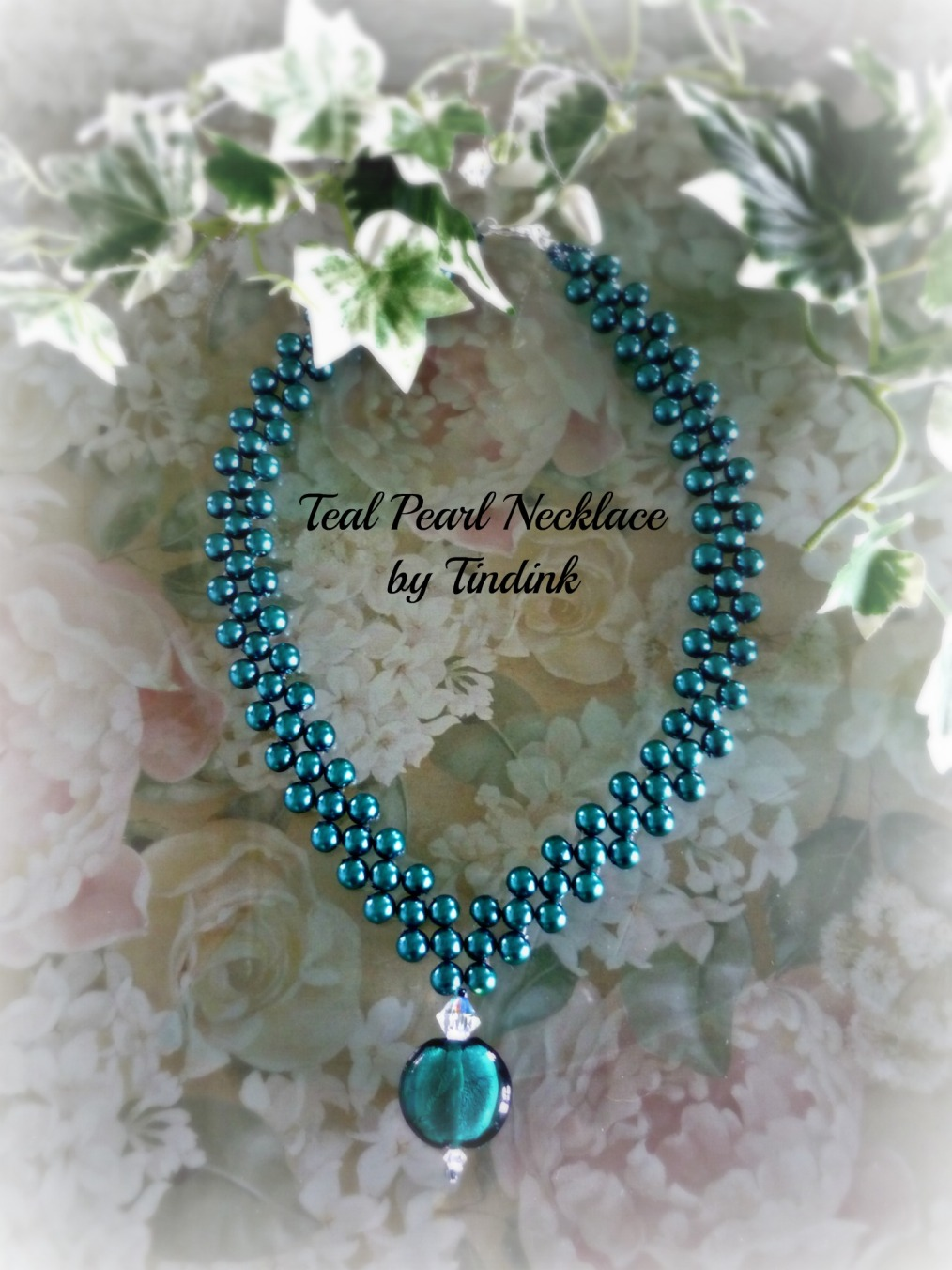 Teal Pearl Necklace